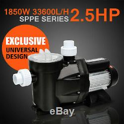 Super Above Ground 2.5 HP Swimming Pool Water Pump 115 Volt Motor Portable