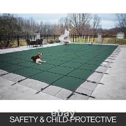 Swimming Pool Cover 18X36 FT Rectangular In Ground Non-toxic Brass Outdoor