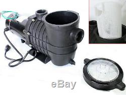UL 120V 2HP 1500W INGROUND ABOVE GROUND SWIMMING POOL WATER PUMP WithStrainer
