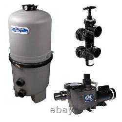Waterway Crystal Water 48 Sq. Ft. In-Ground DE Swimming Pool Filter with 1 HP Pump